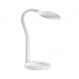 Lampe flexible touch led Cosmo Mdc métal blanc 3,2w 4000k 220 lumens