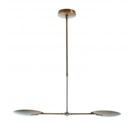 Lustre led Sione Mdc métal bronze vasques orientables 2x18w led 3000k 3600 lumens