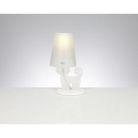 Lampe Cat Emporium plexiglass blanc opale 20w E27