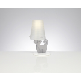 Lampe Cat Emporium plexiglass gris mat 20w E27