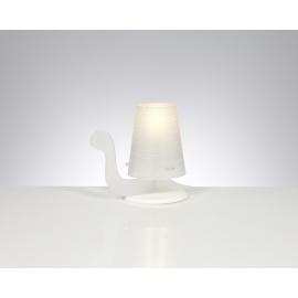 Lampe Tortue Emporium plexiglass blanc opale 20w E27