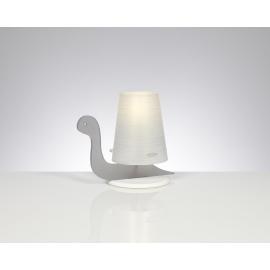 Lampe Tortue Emporium plexiglass gris mat 20w E27