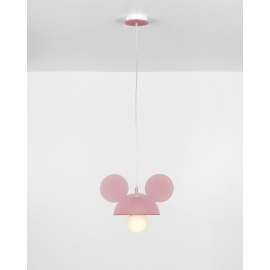 Suspension Topoluce Emporium plexiglass rose 23w E27