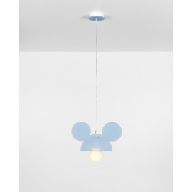 Suspension Topoluce Emporium plexiglass bleu 23w E27
