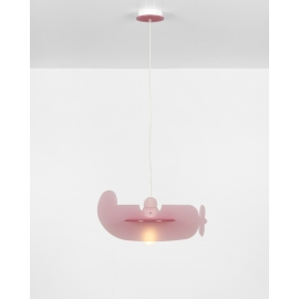 Suspension Plano Emporium plexiglass rose 23w E27