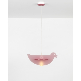Suspension Duck Emporium plexiglass rose 23w E27