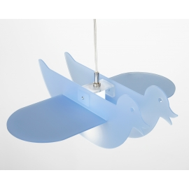 Suspension Duck Emporium plexiglass bleu 23w E27