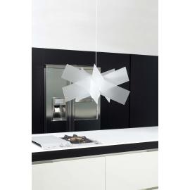 Suspension Kartika Emporium plexiglass blanc opale 23w E27