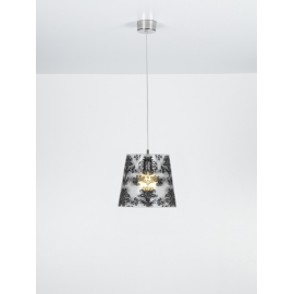 Suspension Babette Emporium plexiglass transparent, noir 23w E27