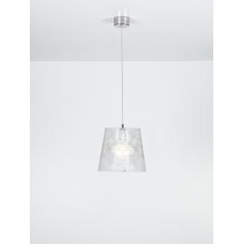 Suspension Babette Emporium plexiglass transparent, blanc 23w E27