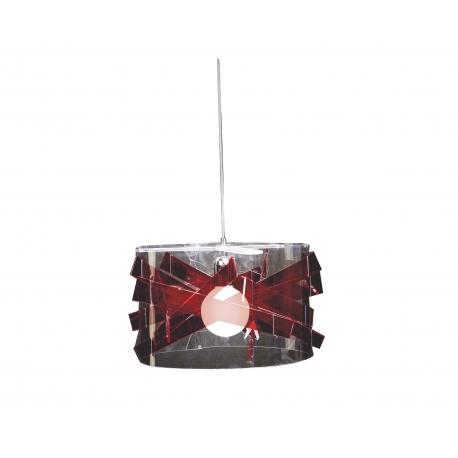 Suspension Bigbang Emporium plexiglass transparent, rouge 23w E27