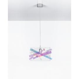 Suspension Bigbang Emporium plexiglass transparent, flash 23w E27