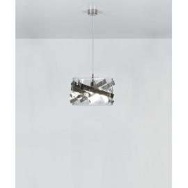 Suspension Bigbang Emporium plexiglass transparent, chrome 23w E27