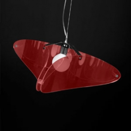 Suspension Bellatrix Emporium plexiglass rouge 23w E27