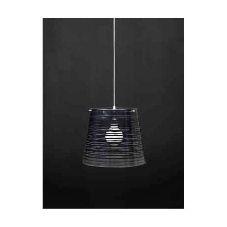Suspension Pixi Emporium plexiglass transparent, noir 23w E27