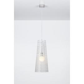 Suspension Pixi Emporium plexiglass transparent, blanc 23w E27