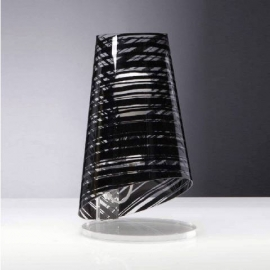 Lampe Pixi Emporium plexiglass transparent, noir 23w E27