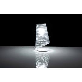 Lampe Pixi Emporium plexiglass transparent, blanc 23w E27