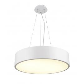 Lustre led Cumbuco Mantra métal blanc avec diffuseur acrylique 50w led 4200k 3000 lumens