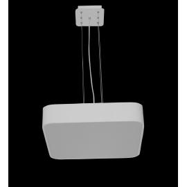 Lustre led carré Cumbuco Mantra métal blanc avec diffuseur acrylique 80w led 4200k 4800 lumens