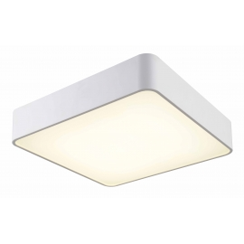 Plafonnier led carré Cumbuco Mantra métal blanc avec diffuseur acrylique 35w led 4200k 2100 lumens