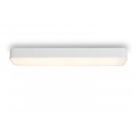 Plafonnier led rectangulaire Cumbuco Mantra métal blanc avec diffuseur acrylique 85w led 4200k 5100 lumens