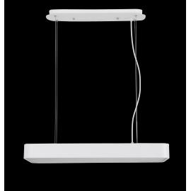 Lustre led rectangulaire Cumbuco Mantra métal blanc avec diffuseur acrylique 85w led 4200k 5100 lumens