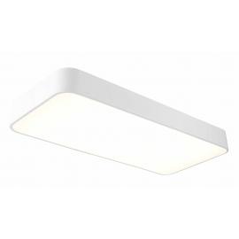 Plafonnier led rectangulaire Cumbuco Mantra métal blanc avec diffuseur acrylique 50w led 4200k 3000 lumens