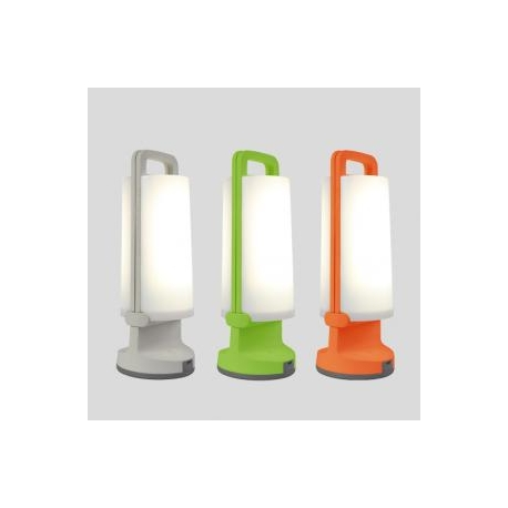 Lampe nomade solaire Dragonfly Lutec en Abs vert 1,2 watt 3 niveaux d`éclairement 120/50/10 lumens 4000k prise usb IP54