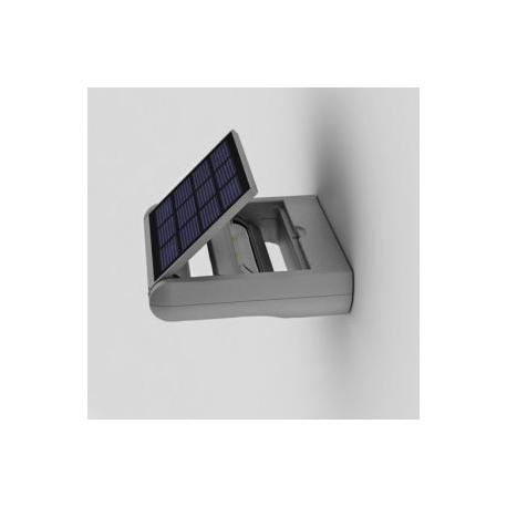 Applique solaire Ledspot Lutec en Abs gris avec 3 niveaux d`éclairement 1w 100/50/30 lumens 4000k IP44 classe 3