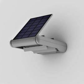 Applique solaire Ledspot Lutec en Abs gris avec 3 niveaux d`éclairement 2w 200/100/60 lumens 4000k IP44 classe 3
