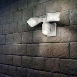 Applique solaire Openy Lutec avec détecteur de présence en Abs fonte d`aluminium blanc 4w 500 lumens 4000k IP44 classe 3