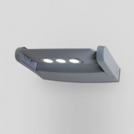 Applique led Mini Ledspot Lutec en fonte d`aluminium gris anthracite 3x3w 605 lumen 4000k IP65 classe 1 IK05