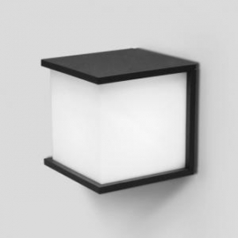 Applique Box Cubel Lutec en fonte d`aluminium gris anthracite 42w E27 Led IP54 IK06