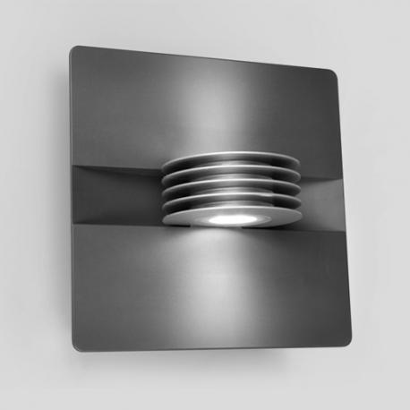 Applique led Split Lutec en fonte d`aluminium gris anthracite 2x3led 1,5w 480 lumens 4000k IP44 classe 2 IK06