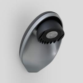Applique led Eggo Lutec en fonte d`aluminium gris anthracite 3x3w 350 lumens 4000k IP54 classe 2 IK05