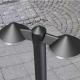 Borne led Cone Lutec en fonte d`aluminium gris anthracite 2x8 led 1,5w 1560 lumens 4000k IP54 classe 1 IK07