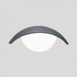 Applique Clip Lutec en fonte d`aluminium gris anthracite  18w E27 IP44 classe 1 IK07