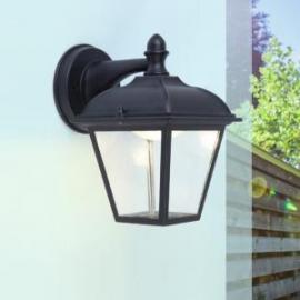 Applique led Posi Lutec en fonte d`aluminium noir 11w 400 lumens IP44 classe 1
