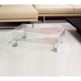 Table basse Andy Emporium métachrylate transparent