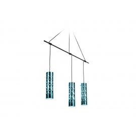 Suspension Dimple Slamp design Pantone/Pavoncello en cristalflex, metal couleur émeraude 3X8w led filament E27