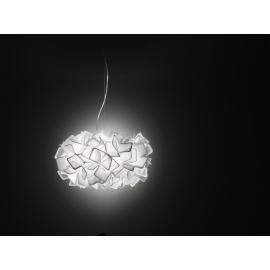 Suspension Clizia Slamp design Adriano Rachele en Opalflex blanc 2x20w E27