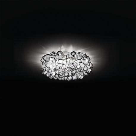 Plafonnier Clizia Slamp design Adriano Rachele en Opalflex noir 2x20w E27