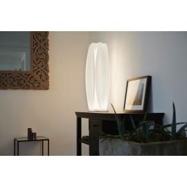 Lampe Kira Emporium design Romeo Guaricci en polyméthacrylate de méthyle blanc strip led 24w 4000k 360 lumens