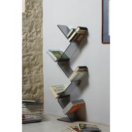 Bibliothèque Urania Emporium en métachrylate gris épaisseur 10mm