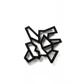 Etagère CD, DVD Macrame Emporium design Roberto Giacomucci en mètachrylate noir