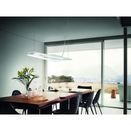 Applique, Plafonnier Led Polis Giarnieri aluminium dove grey 38,4w led 5668 lumens 3000k