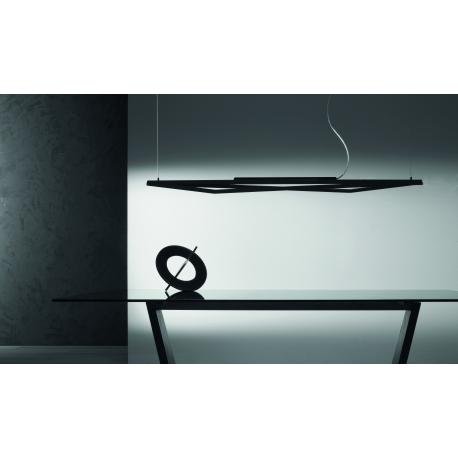 Suspension Led Arrow Giarnieri aluminium noir 42,35w led 5475 lumens 3000k