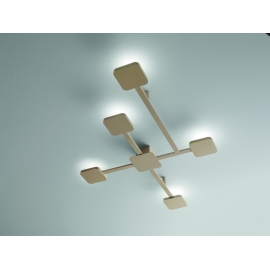 Applique Led Grid Giarnieri aluminium dove grey 75w led 6750 lumens 3000k
