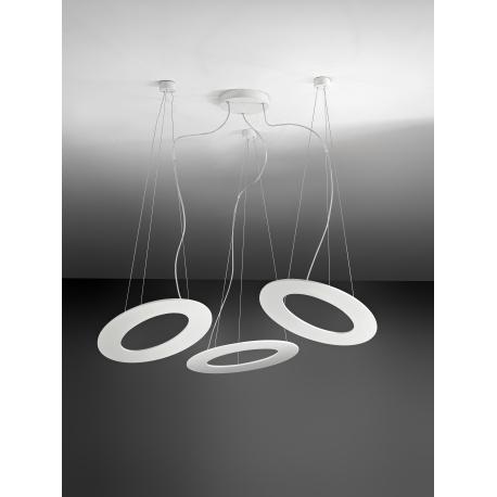 Suspension Led Plekto Giarnieri aluminium blanc 120w led 9840 lumens 3000k
